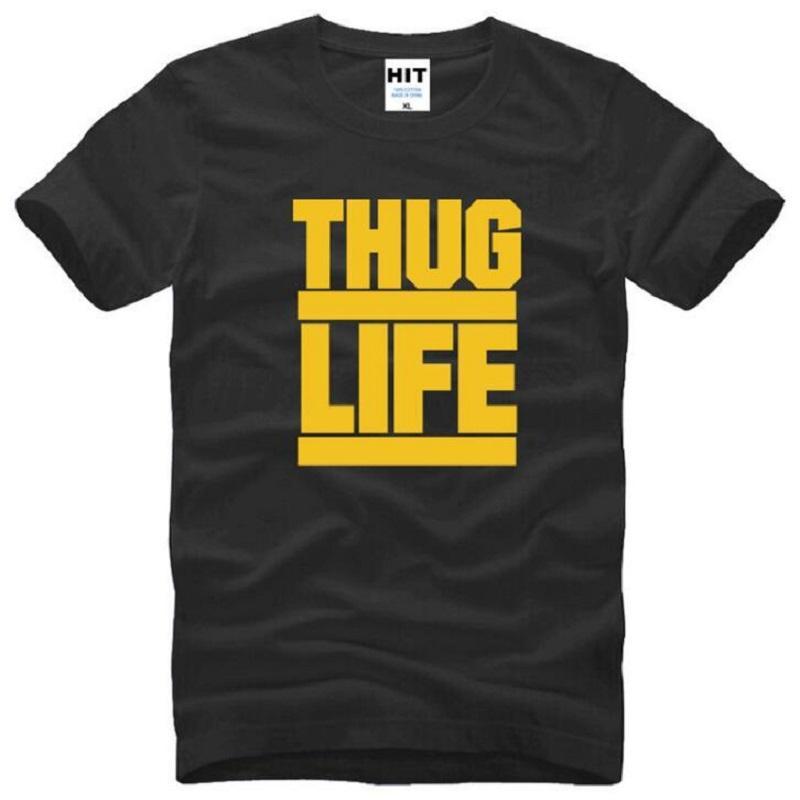 New Summer Style Thug Life Tupac 2PAC T Shirts Men Cotton Short Sleeve O-Neck Hip Hop Rap Men's T-Shirt Fashion Rock Rap Top Tee