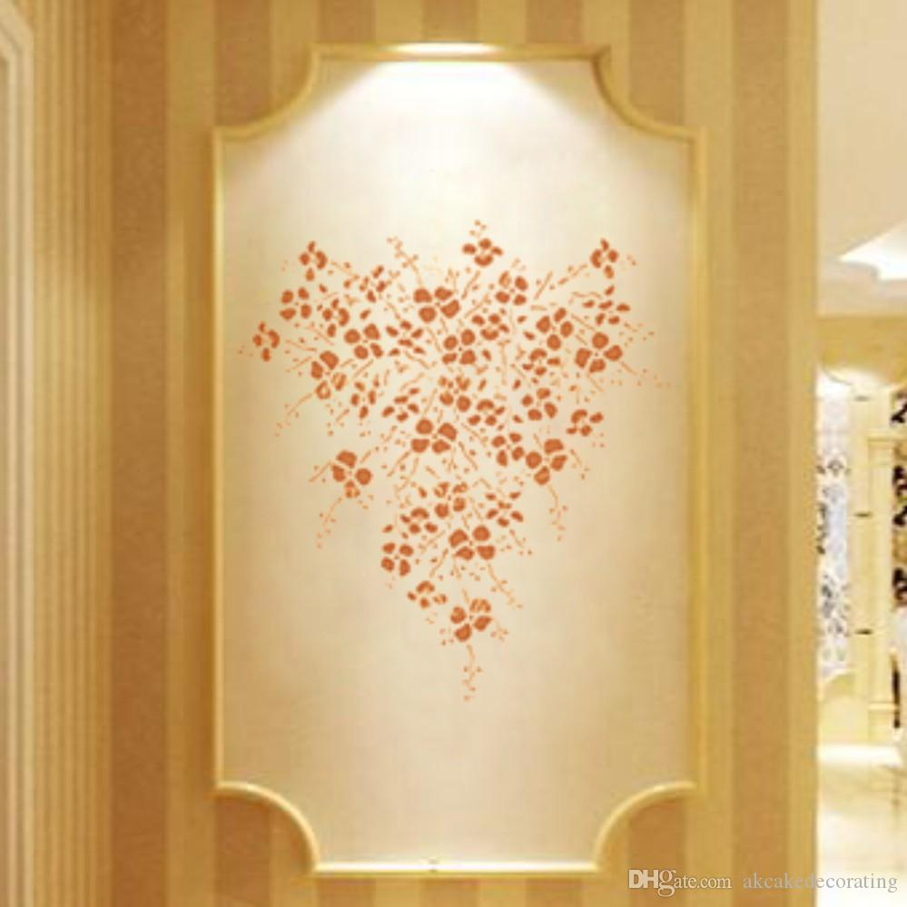 Large Garden Vine Stencil for DIY Wall Painting Home Decor Reuseable Wall Stencil High Quality Stencils Plastic Template WS-32
