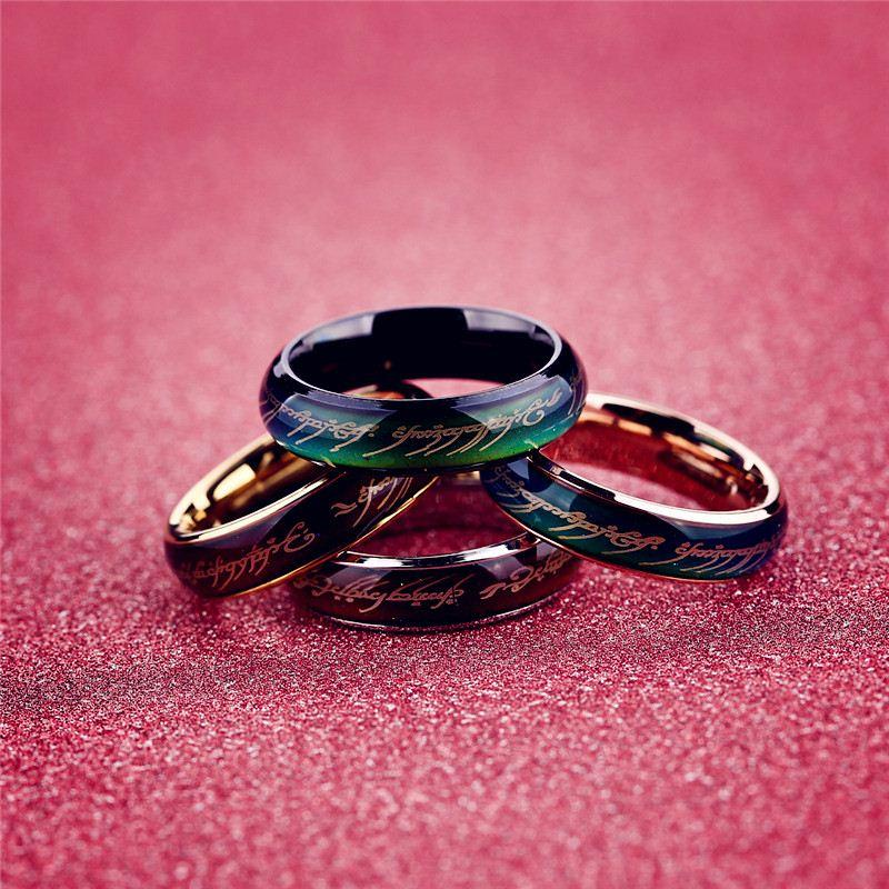2019 Lord Of The Rings Mood Ring Wedding Ring Men From