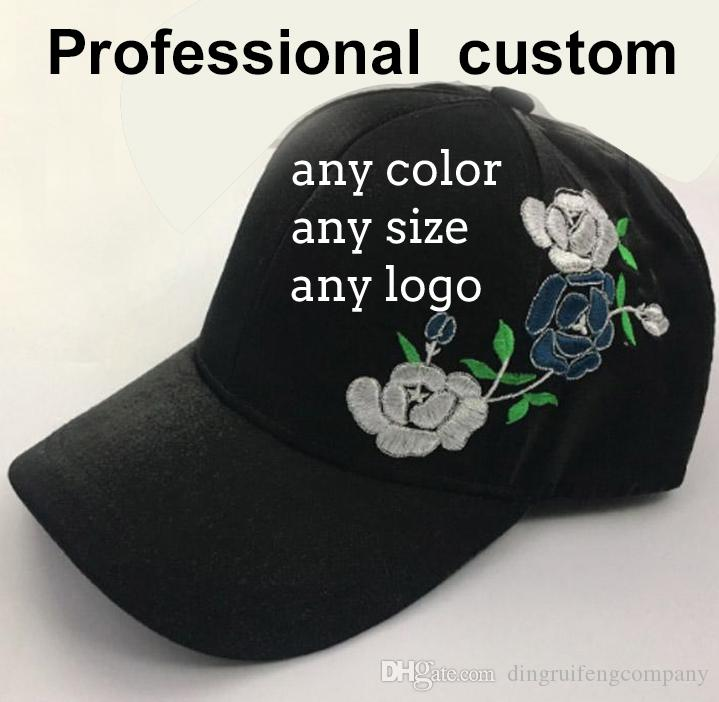5e4f2e93323 Accept Custom Cap Embroidered Hats Unisex Flowers Embroidered Adjustable  Strapback Dad Hat Baseball Cap Cap Baseball Cap Custom Hat Online with   6.54 Piece ...