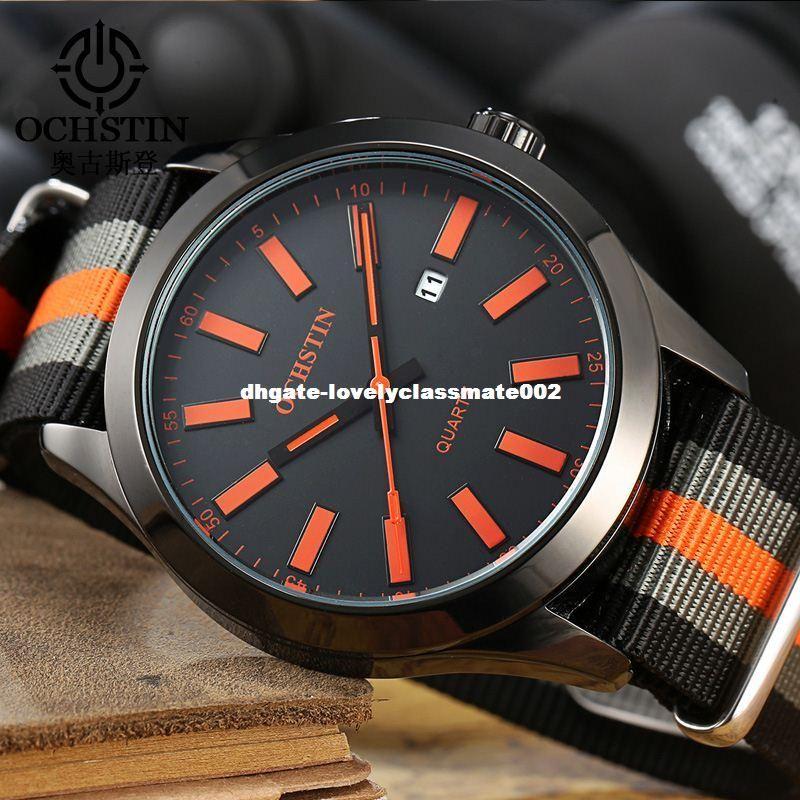 0eb8b7932e34 Compre Ochstin Marca Nueva Moda Casual Hombre Calendario Masculino Reloj  Ejército Militar Correa De Nylon Deportivo Elegante Reloj De Cuarzo De Lujo  Reloj ...