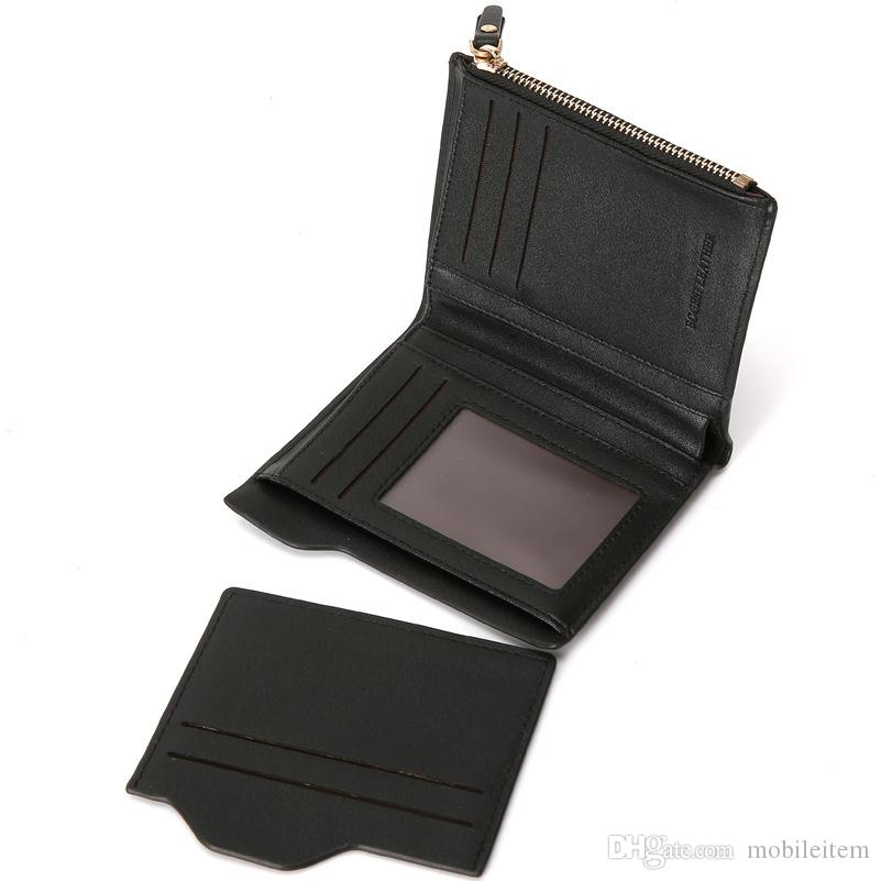 leather designer wallets Holders mens wallet Men 's new card package luxury wholesale short purse 943
