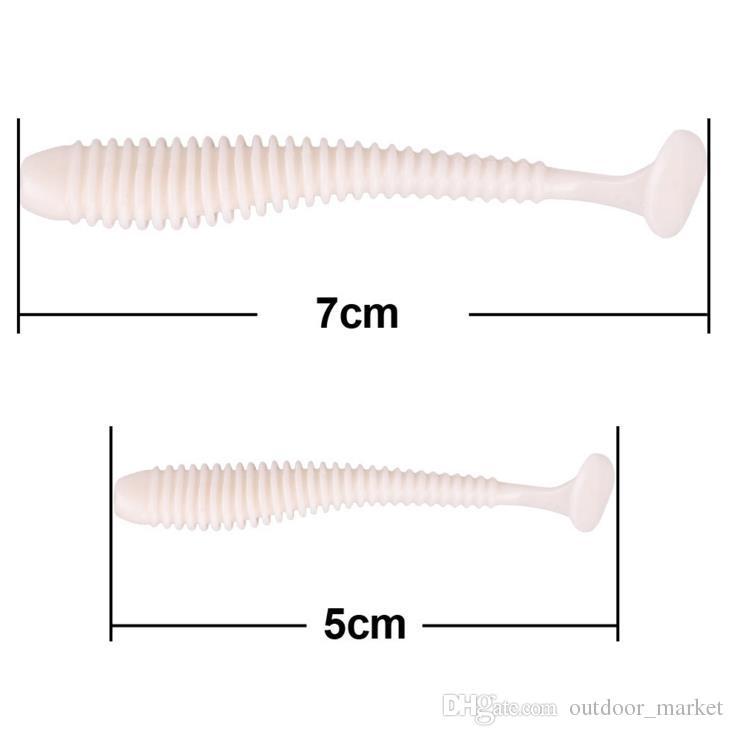 2шт воблер отсадки 5 см 7cm0.7g рыболовную приманку мягкий червь креветки Jerkbait рыба океан рок приманка бас мягкая рыба запах мягкие приманки