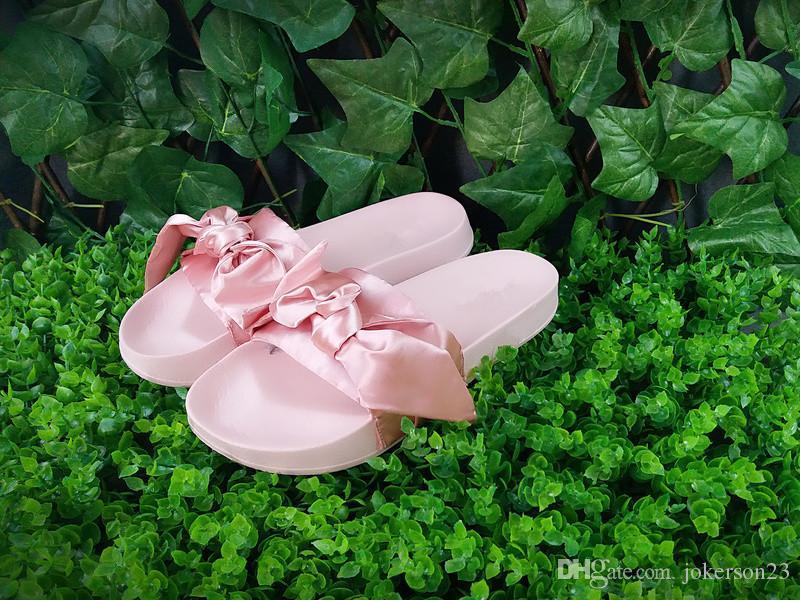343ec3409fce Women Slipper Fenty Rihanna Slippers Bow Bandana Slide Slippers Fenty Bow  Slides For Women Indoor Slides With Box And Dust Bags Sandale Femme Plate  Fenty ...