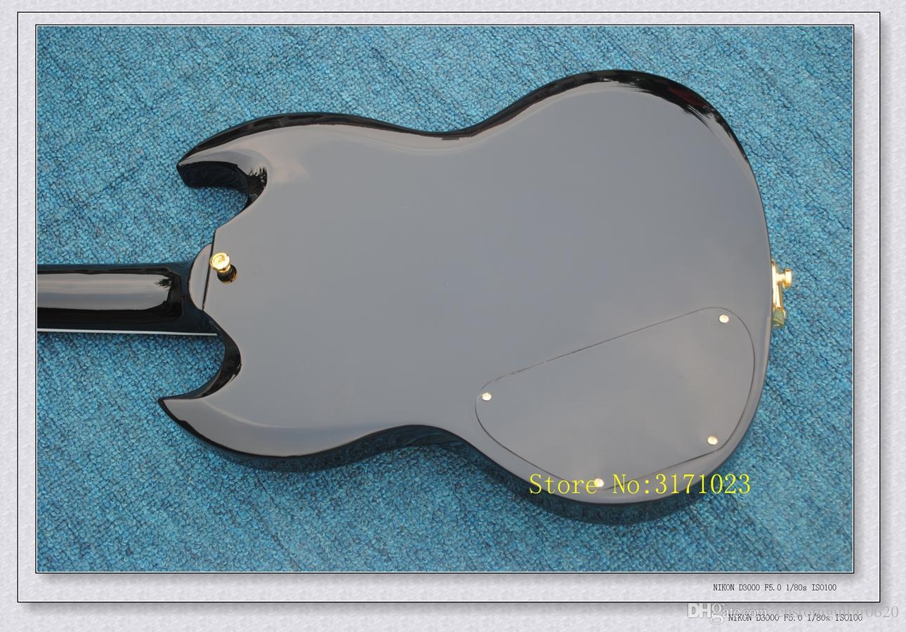 Preto Personalizado Loja SG Guitarra Elétrica 3 Pickups Guitarras de Alta Qualidade Frete Grátis