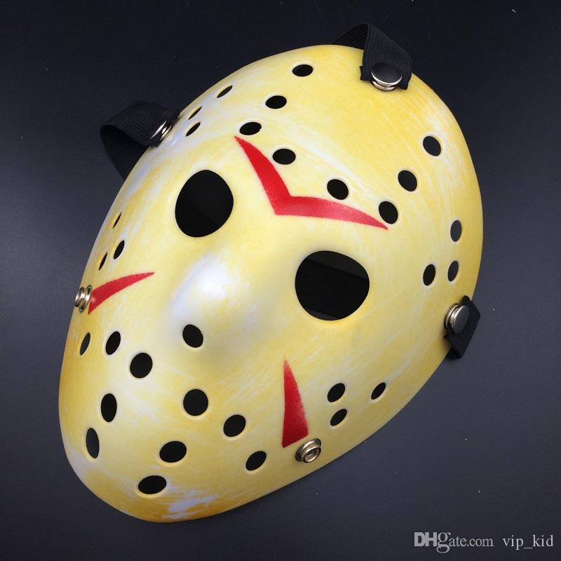 O novo Jason VS sexta-feira décimo terceiro terrorista de hóquei Cosplay roupas Máscara de Halloween Masquerade Máscara horror maluco máscara assassino Jason thickenin