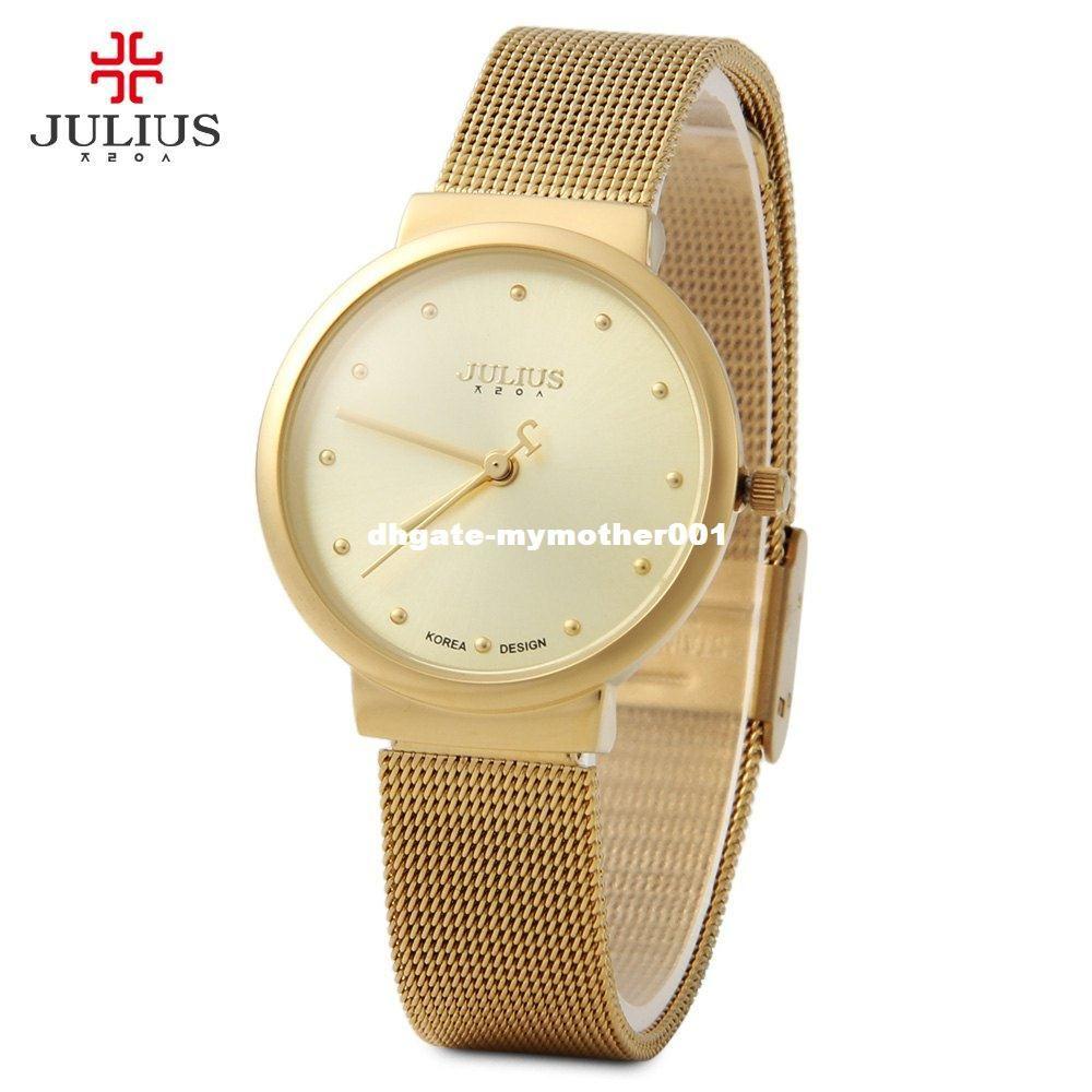 fdb4b1428ecd Compre Nueva Marca Julius Relogio Feminino Reloj De Mujer Reloj De Acero  Inoxidable Relojes De Moda Para Mujer Reloj Casual Reloj De Cuarzo A  38.58  Del ...