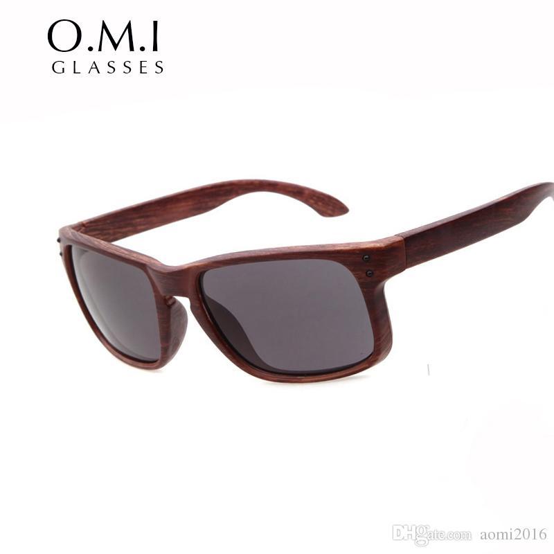 050c04071eb 2017 HOLBROOK Sunglasses Men Women Imitation Wood Frame Summer Shade ...