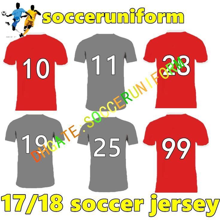 Compre 2017 2018 Qualidade Tailandesa Longe Cinza Vermelho Jerseys Benfica  Lopez Salvio Raul Jimenez Jonas Vestuário Desportivo Camisas De  Socceruniform 12632fd468053