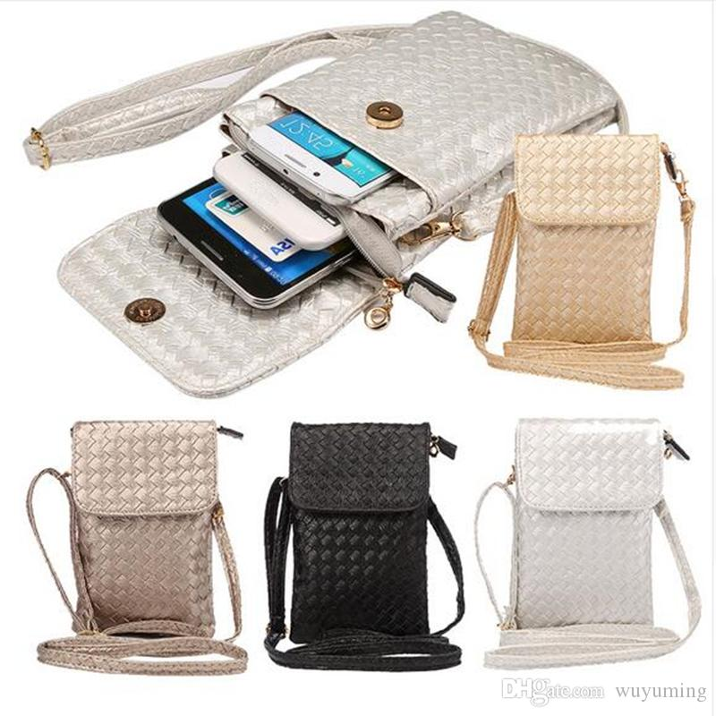 6.3inch Universal Crossbody Bag Phone Pouch for iPhone 6/6S/6 Plus/6S Plus/SE Luxury Leather Satchel with Strap