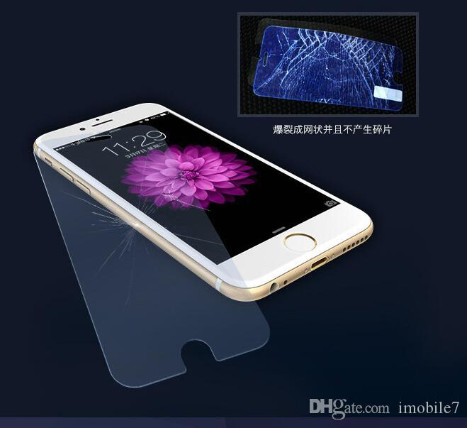 Blue Light 3D Full Coveraged Tempered Glass Screen Protector Film For IPhone6 6s 7 7Plus With Soft Carbon Fiber