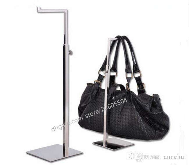 High quality titanium gold stainess steel handbag display stand bag holder stand rack adjustable metal handbag hanger hooks for handba
