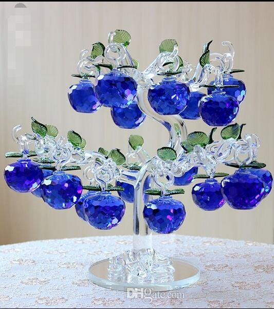 Beautiful Popular Crystal apple tree Lucky Home Decoration Living Room Wine Cabinet TV Cabinet Decoration Crafts Creative Wedding Gifts