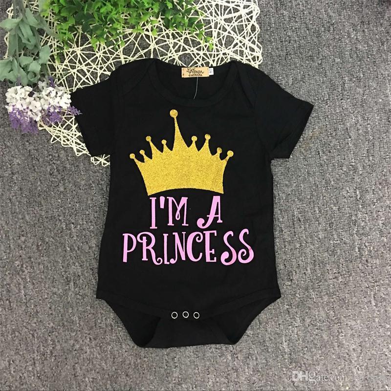 2017 INS Yaz Yenidoğan Bebek Kız Bebek Taç Giyim Seti Pamuk Kısa Kollu Romper + Pantolon Tayt + Kafa bandı 3 ADET kıyafetler
