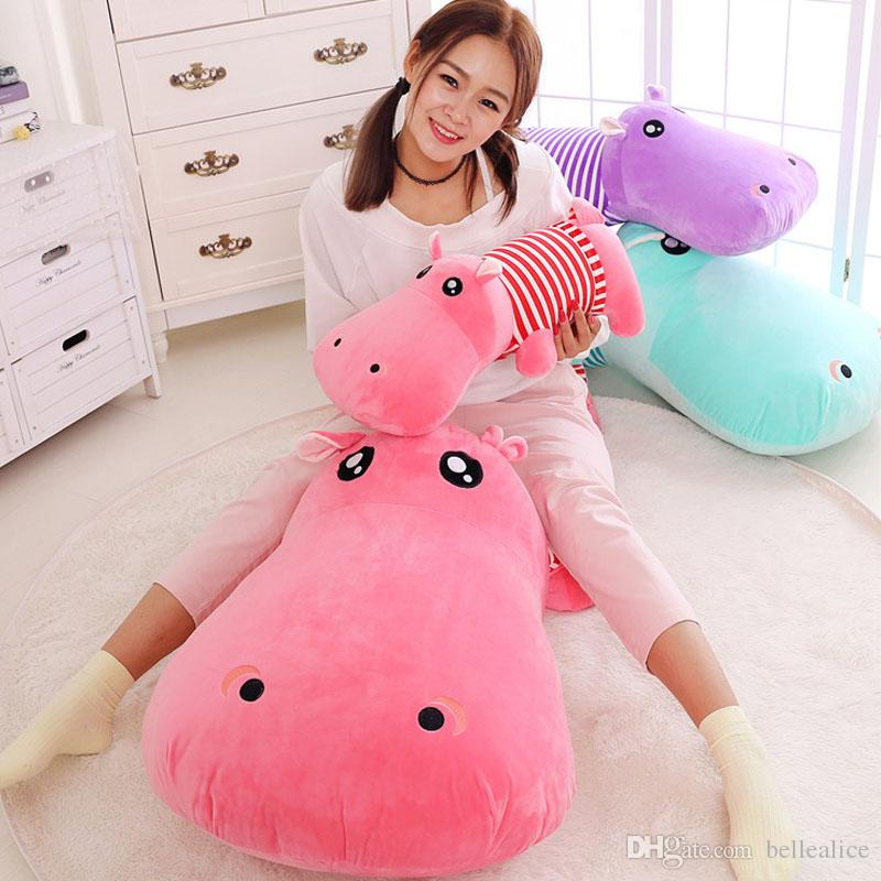 2019 Large 100 Cm 39 Inches Soft Cartoon Hippo Stuffed Animal Dolls