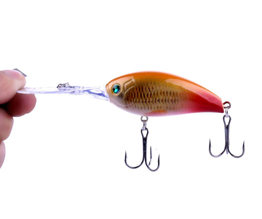 of Rock long tongue swimming lure hard artificial crankbait bionic plastic fishing lures tackle pesca hooks