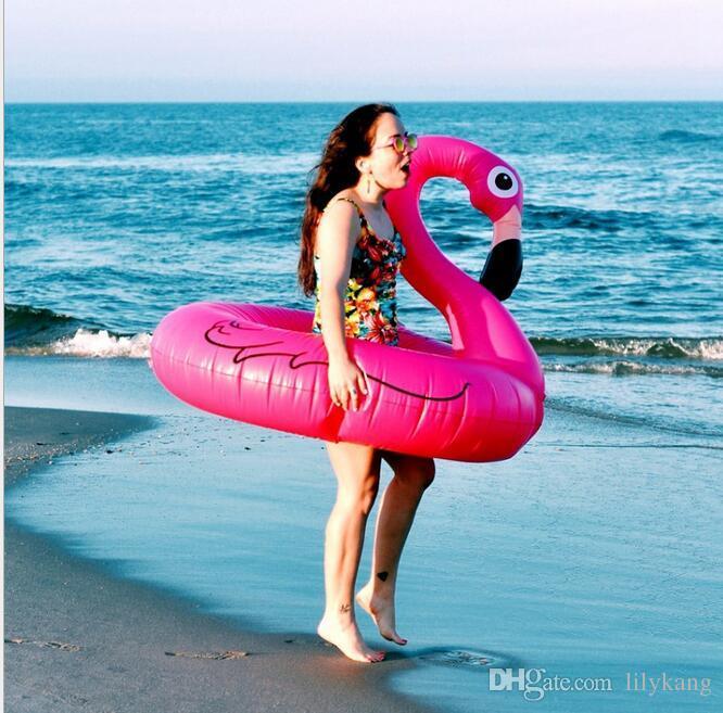 120CM العائمة أريكة تجمع المياه السباحة نفخ الحيوان فلامنغو السباحة الدائري السباحة الهواء فراش تجمع تعويم طوف لتعليم الكبار