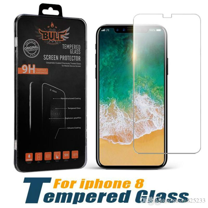 High Transparency Anti-Fingerprint Tempered Glass Size Guaranteed Screen Protector Film 9H Explosion Premium Scratch Resistant For iPhone 8