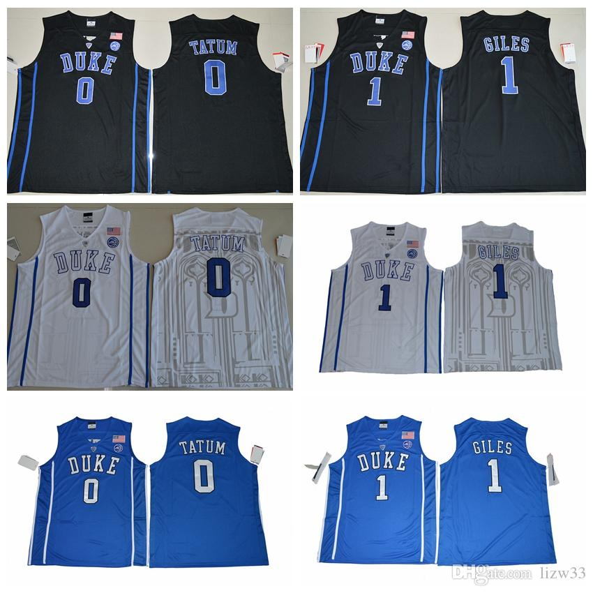ef799a95306e 2019 2017 NCAA Duke Jersey  0 Jayson Tatum  1 Harry Giles Jersey 100%  Stitched Blue Black White College Basketball Jerseys From Lizw33