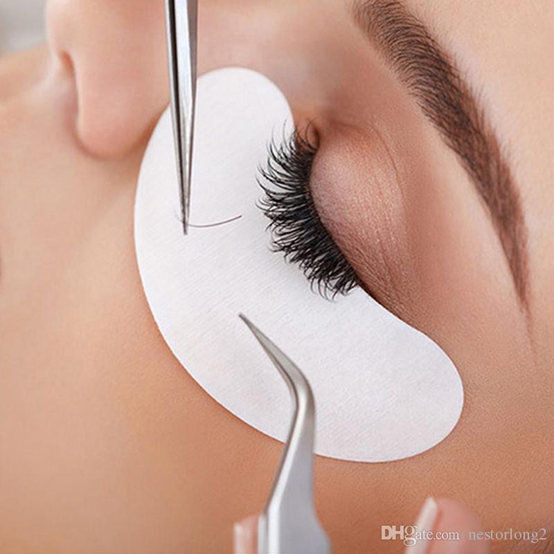 Wholesale eyelashes Paper Patches Eye Pads Women makeup tools eyelash extension lint free 7*3.3cm