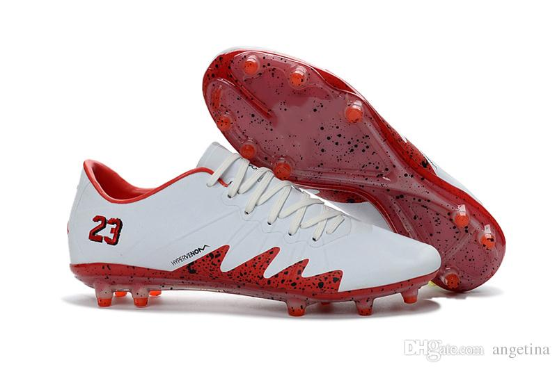 Best 2017 New Neymar Jr Soccer Cleats Hypervenom Phinish Fg Neymar X Jr  White Red Low Best Soccer Shoes 2017 Cr7 Indoor Shoes Under $69.23 |  Dhgate.Com