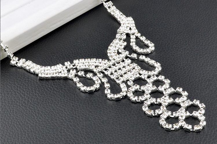 Western Rain Hot Sale Wedding Bride Jewelry Set Necklace Ring Earring Bracelete White Stone High Nice Quanlity In Western Afraca Q-AST-07