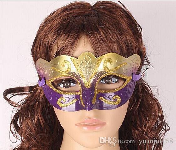 Promotion Selling Party Mask With Gold Glitter Mask Venetian Unisex Sparkle Masquerade Venetian Mask Mardi Gras Masks Masquerade Halloween