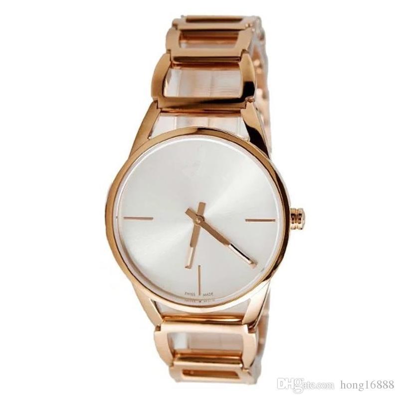 Beiläufige Art- und Weisefrauen-Quarz-Uhrgeometrie Quadratrahmen Armband-Bügel Edelstahl-Luxusuhren Wholesale