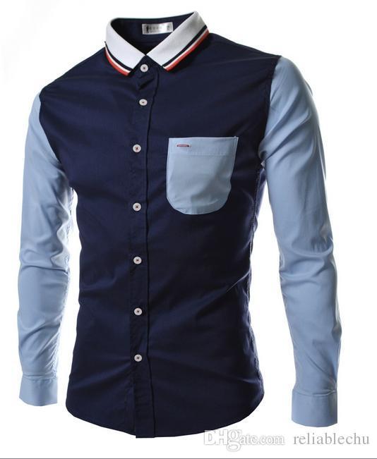 줄무늬 셔츠 남성 캐주얼 셔츠 캐주얼 셔츠 긴팔 니트 다운 넥 니트 다운 무늬 반소매 셔츠 2018