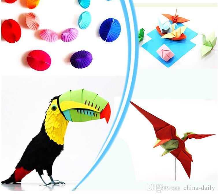 Navio livre 6 * 12 cm 10 cores Origami Papel Dupla Face Artesanal de Papel Dobrável para Artesanato Soco Papel Ferramentas de Presente de Natal