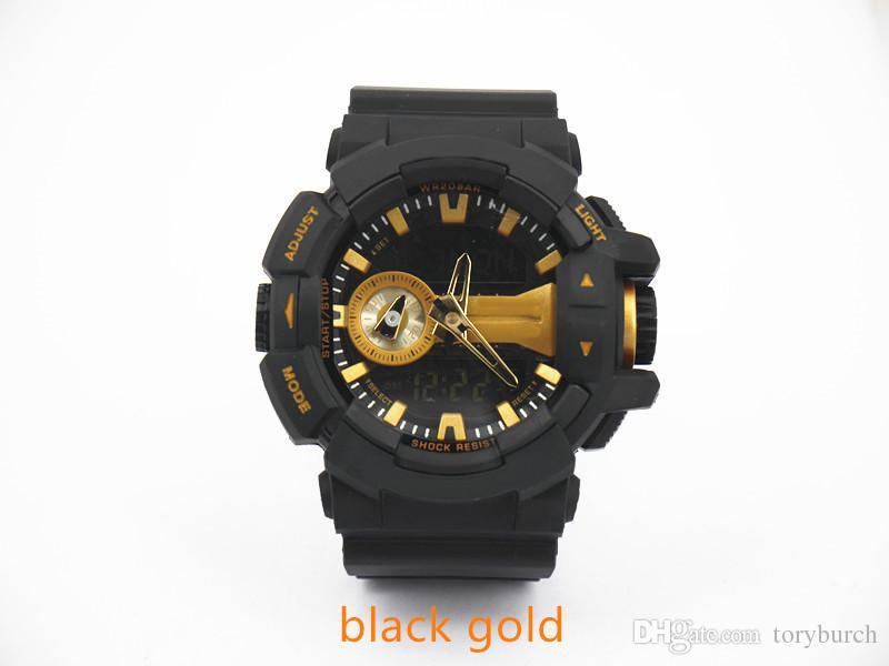 высокое качество Relogio G400 без коробки мужских спортивных часов бренда новых мужских часов LED хронографа всех указатели работу 3ATM водостойких