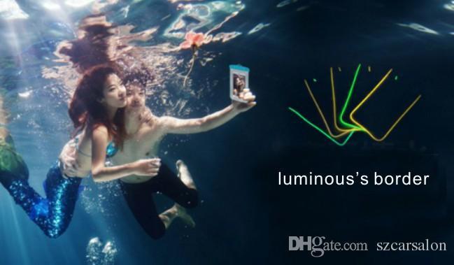 قضية الهاتف الخليوي للماء الهاتف المحمول حقيبة السباحة Pounch ل فون سومسونغ xiaomi الحدود مضيئة العالمي