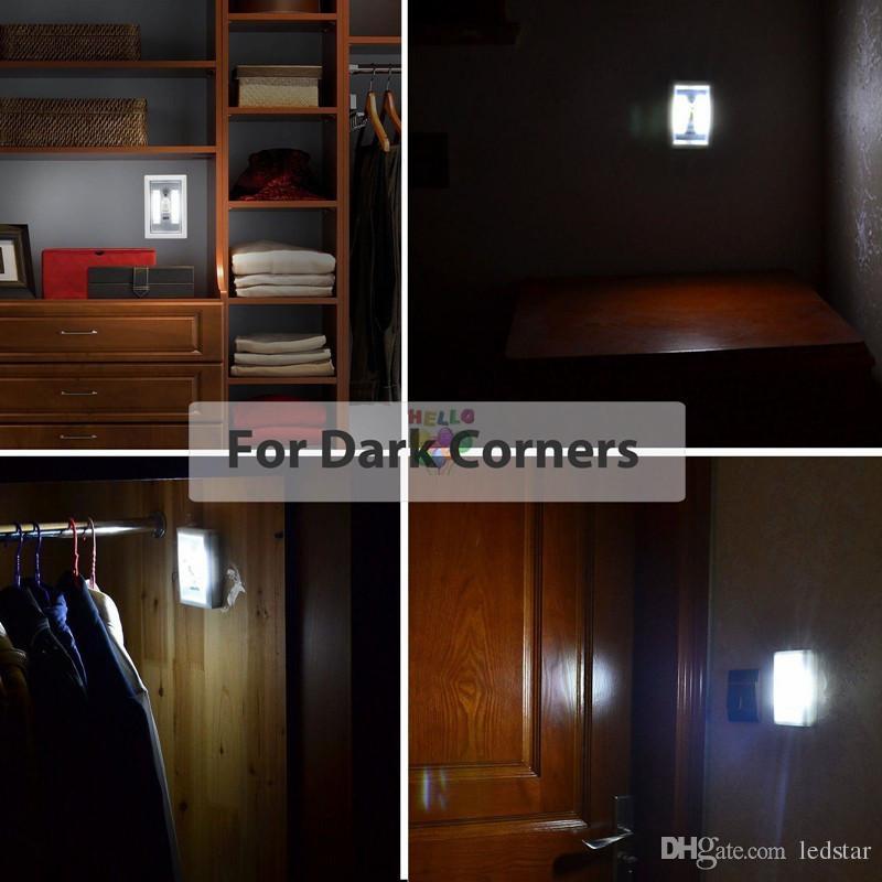Magnética Mini COB LED Interruptor de Luz Interruptor de Luz Da Parede Sem Fio Armário de Cozinha Armário de Cozinha Garagem Armário Lâmpada de Emergência de Acampamento