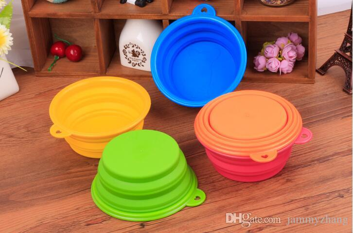 Ciotola di acqua portatile alimentabile del piatto di alimentazione pieghevole del piatto del cucciolo del cane del cucciolo di cane