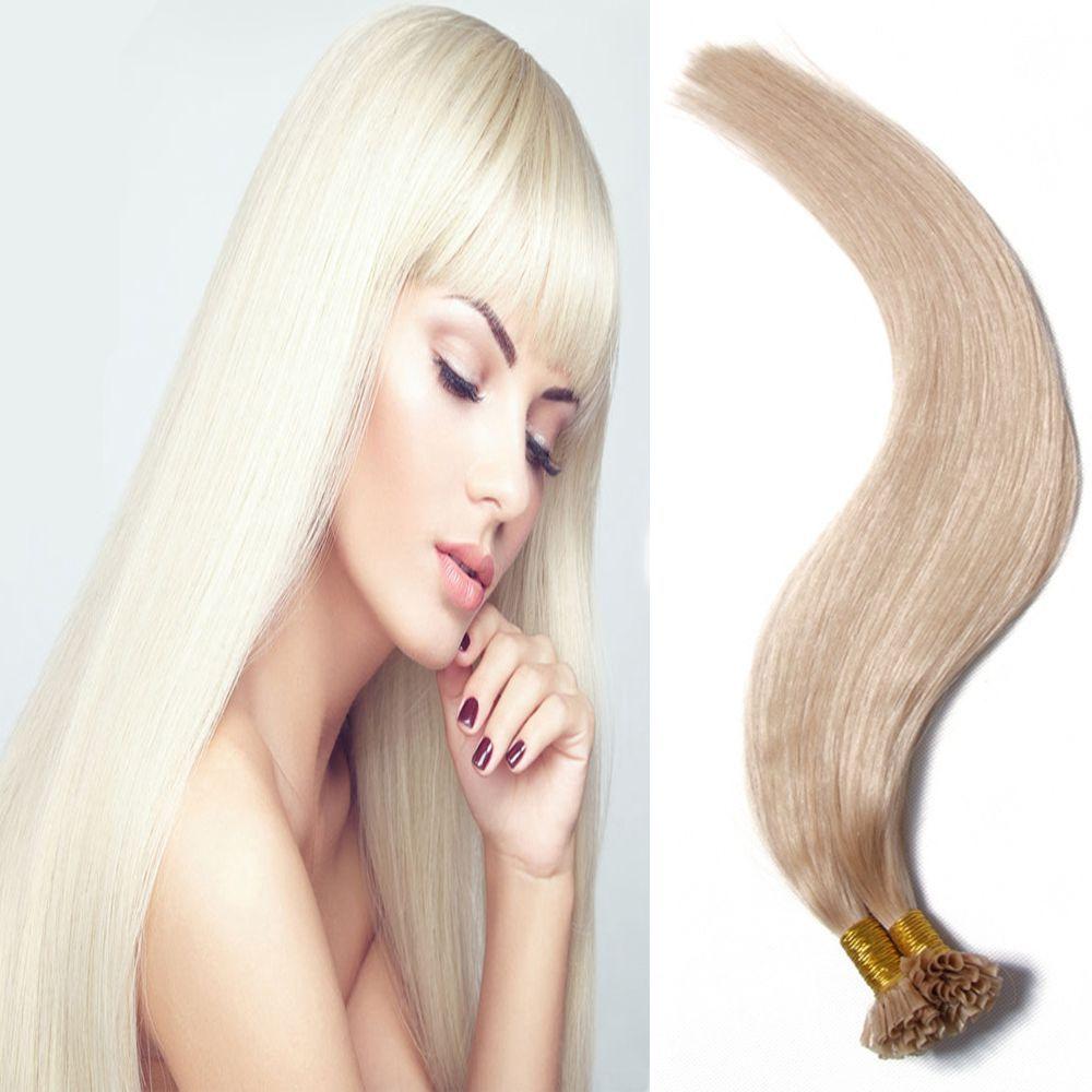 Newest Straight Brazilian Nail U Tip Virgin Hair Extension 7a U