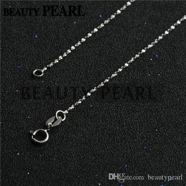 Women Girl Beauty Jewelry Simple Necklace Collar 1mm 925 Sterling Silver Necklace Chains Wholesale