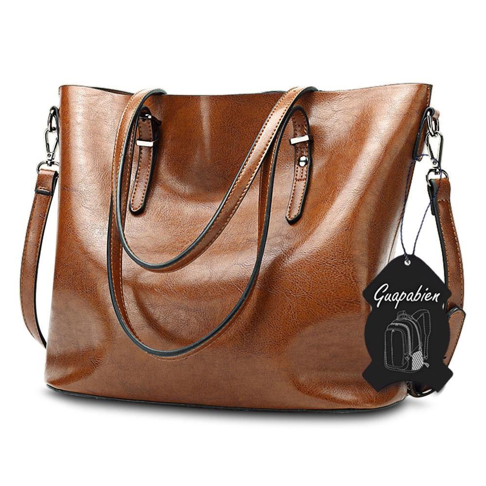 Simple Design Ladies Large Storage Solid Women Leather Handbag Casual Bag Tote Cheap Big Messenger Shopping Bag