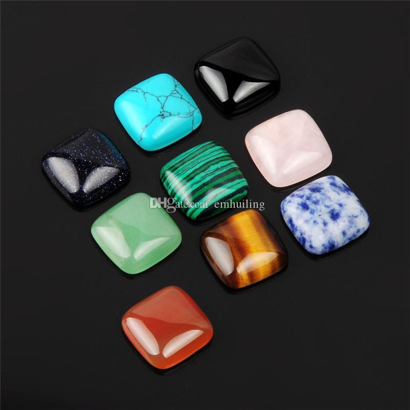 Pretty First Quality Multi Natural Stones Quartz Small Flat Back Cabochon Ready to Be Made into a Beautiful Ring,Bracelet, Brooch, Necklace