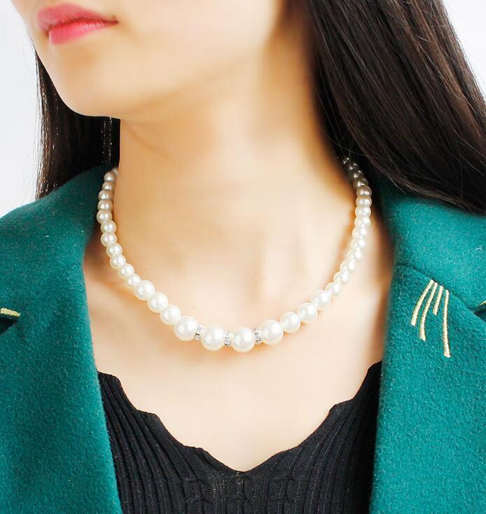 Moda pérola conjunto de jóias de noiva pérola brinco conjunto de colar de pulseira para as mulheres de casamento festa de formatura à noite