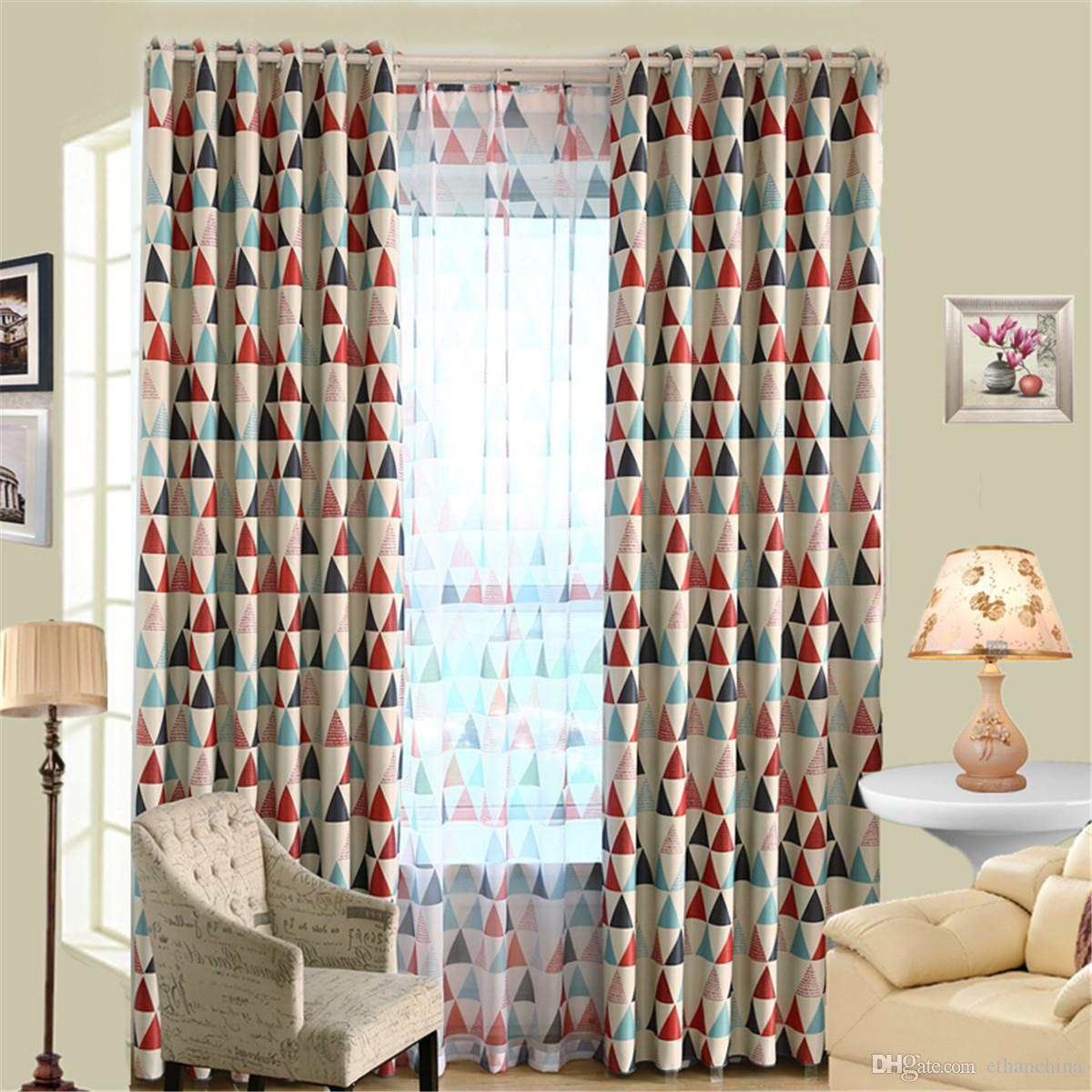 Beautiful 2018 Ivolador Geometric Triangles Pattern Curtain Blackout Curtains Shade  Cloth Sun Insulation 100*250cm From Ethanchina, $23.12 | Dhgate.Com