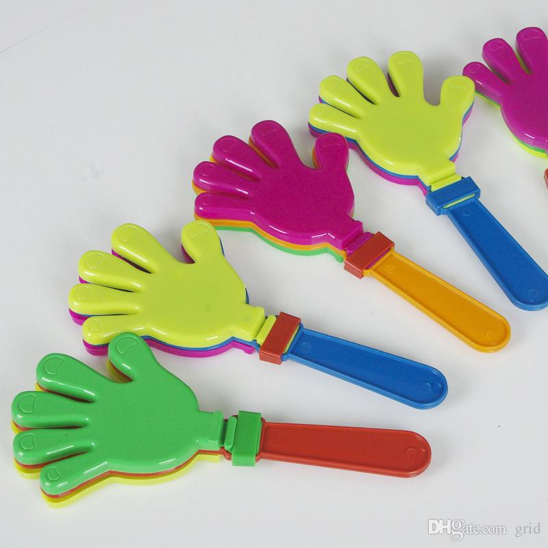 Wholesale Plastic Hand clapper clap toy cheer leading clap for Olympic game football game Noise Maker Baby Kid Pet Toy