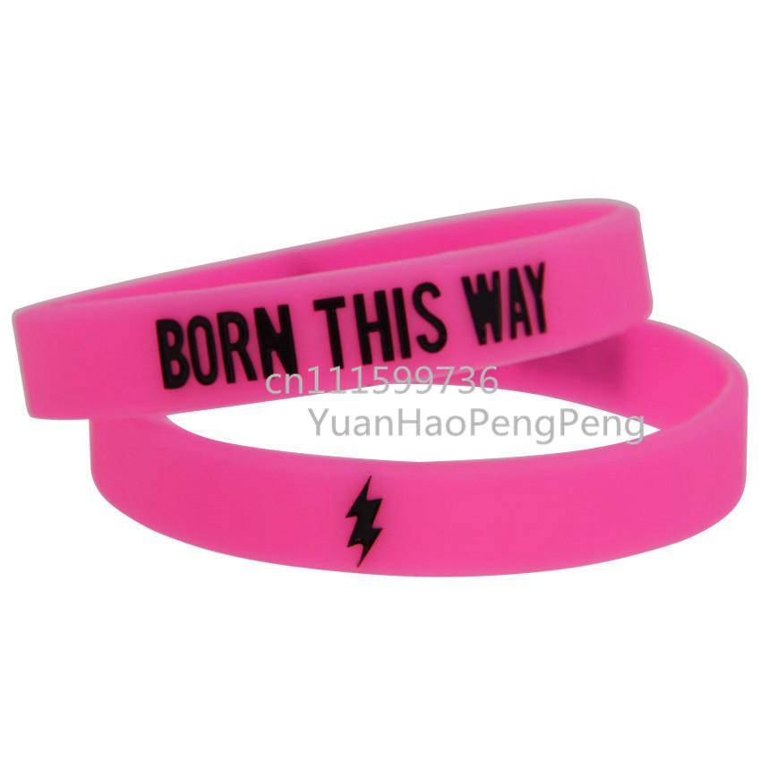 Lady GaGa Born This Way Silicon Skinny Wristband Bracelet