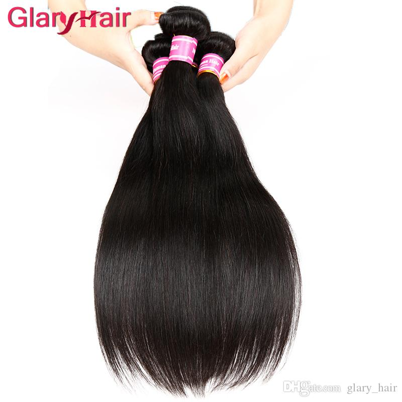 Best Selling Items Mink Brazilian Virgin Hair Straight Weave Peruvian Malaysian Indian Human Braiding Hair Weave Bundles Glary Hair Products