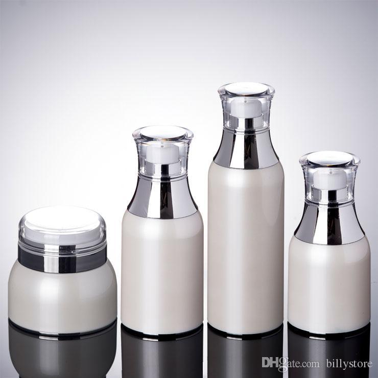 Vaso pompa Airless 30g 50g - Contenitore cosmetici ricaricabile Viaggio sterile - Dispenser vuoto Airless e creme