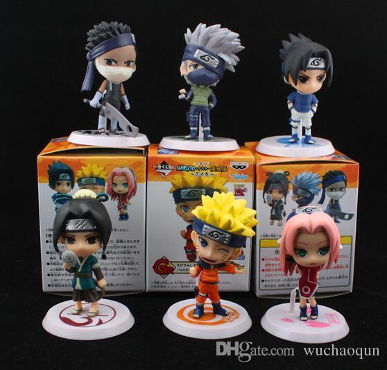 Vente en gros nouveau design PVC Anime Naruto Figurine Shikamaru, Kakashi, Sasuke modèle de jouet pour la collecte