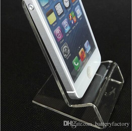 Universal générales Limpide Support acrylique transparent Mont Présentoir Montré pour iPhone Samsung Mobile téléphone portable