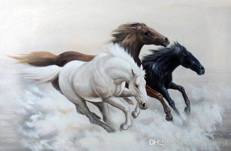 Best Framed Horses Galloping Mustangs Wild Western Cowboy,Genuine ...
