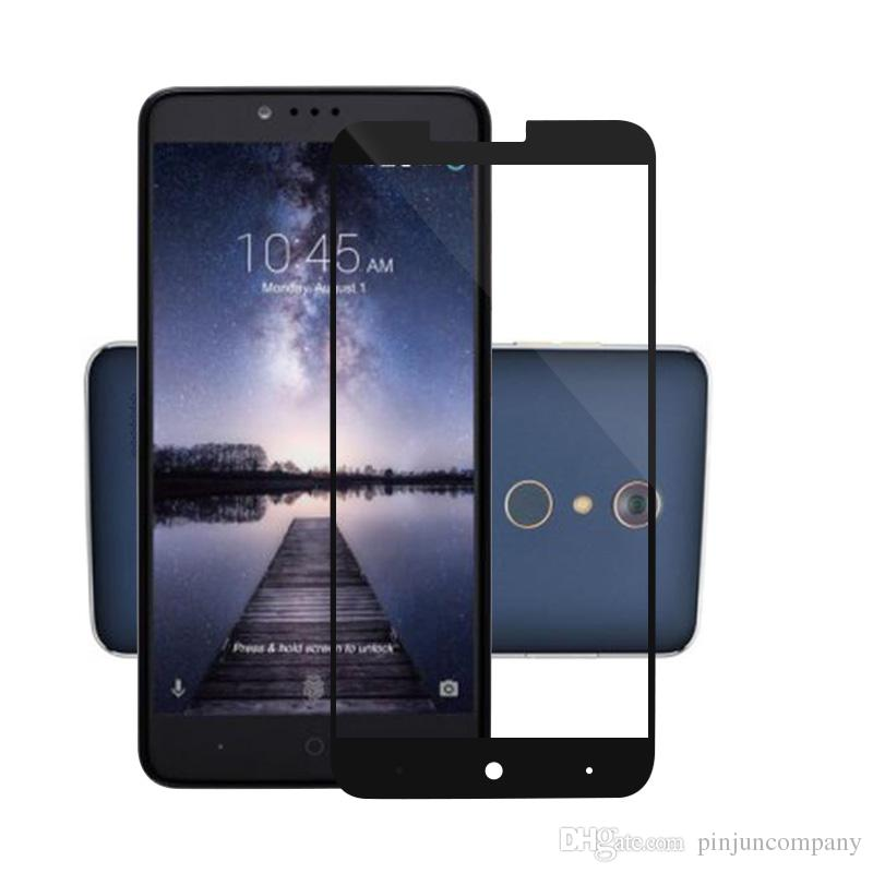 For ZTE zmax pro Z981 3D Full Tempered Glass Full Cover Curved Side Explosion Proof Screen Protector With Retail Package