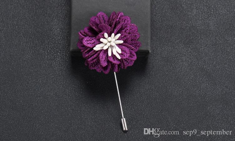 Flower Brooches Handmade Multicolor Casual Mens Brooch Exquisite Brooch for Men Suit New Arrival Men Lapel Pin Brooches