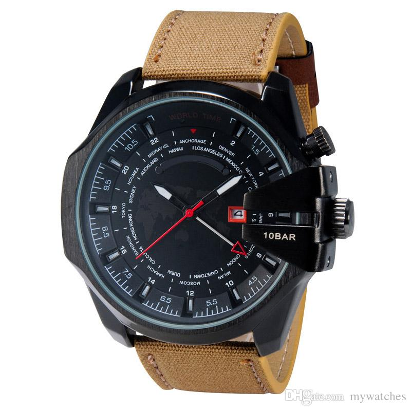 Top luxury brand mens watch sports quartz wristwatch fashion casual top luxury brand mens watch sports quartz wristwatch fashion casual watches clock male good gift for men boy with date world map wholesale online buy gumiabroncs Gallery